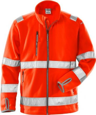 Fristads High Vis Fleece Jacket CL 3 4400 FE (Hi Vis Red)